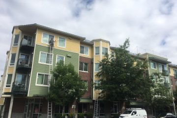Exterior window cleaning in Jasper Apartments Seattle