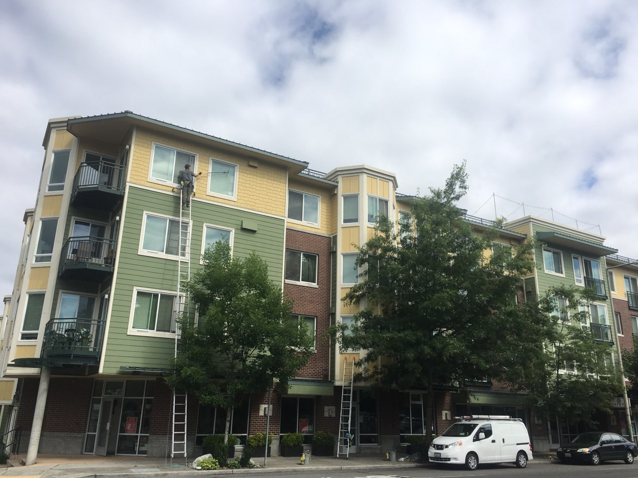 Exterior Window Cleaning In Jasper Apartments Seattle Sw