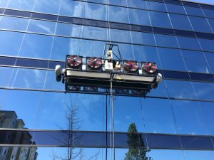 Window cleaning with High Rise automated machine  Lynnwood