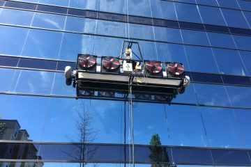 Window cleaning with High Rise automated machine Lynnwood, WA