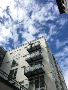 Exterior window cleaning - Cora Apartments in Seattle
