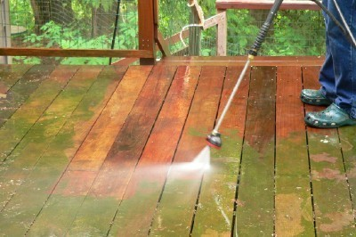 Does pressure washing damage decking?