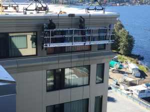 Building envelop maintenance/resealing joints. Hyatt Regency Lake Washington, Renton