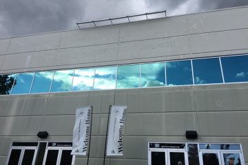 Exterior window cleaning at Monte Villa Farms, Bothell