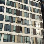 Supported exterior window replacement - Icon Apartments, Seattle WA