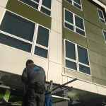 Awning cleaning at Sonata At Columbia Station Apartments, Columbia City, Seattle WA