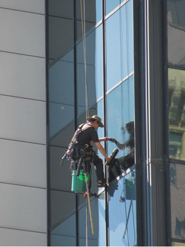 What is it like to be a window washer of a skyscraper?