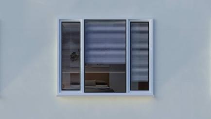 How should I clean aluminum window frames?